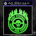 Mad Max Fury Road Ride Eternal Shiny Chrome Decal Sticker Lime Green Vinyl 120x120