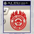 Mad Max Fury Road Ride Eternal Shiny Chrome Decal Sticker Red Vinyl 120x120