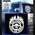 Mad Max Fury Road Ride Eternal Shiny Chrome Decal Sticker White Emblem 120x120