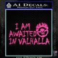 Mad Max Fury Road Valhalla Decal Sticker Hot Pink Vinyl 120x120