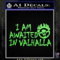 Mad Max Fury Road Valhalla Decal Sticker Lime Green Vinyl 120x120