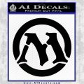 Magic The Gathering MTG CR Decal Sticker Black Logo Emblem 120x120