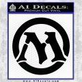 Magic The Gathering MTG CR Decal Sticker Black Logo Emblem 120x120