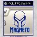 Magneto Helmet D1 Decal Sticker Blue Vinyl 120x120