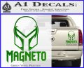 Magneto Helmet D1 Decal Sticker Green Vinyl 120x97