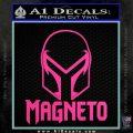 Magneto Helmet D1 Decal Sticker Hot Pink Vinyl 120x120
