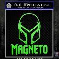 Magneto Helmet D1 Decal Sticker Lime Green Vinyl 120x120