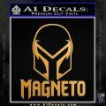 Magneto Helmet D1 Decal Sticker Metallic Gold Vinyl Vinyl 120x120