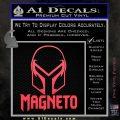 Magneto Helmet D1 Decal Sticker Pink Vinyl Emblem 120x120