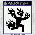 Man on Fire Stuntman Decal Sticker Black Logo Emblem 120x120