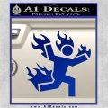 Man on Fire Stuntman Decal Sticker Blue Vinyl 120x120