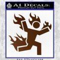 Man on Fire Stuntman Decal Sticker Brown Vinyl 120x120