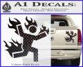 Man on Fire Stuntman Decal Sticker Carbon Fiber Black 120x97