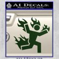 Man on Fire Stuntman Decal Sticker Dark Green Vinyl 120x120