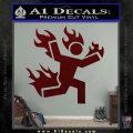 Man on Fire Stuntman Decal Sticker Dark Red Vinyl 120x120