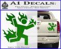Man on Fire Stuntman Decal Sticker Green Vinyl 120x97