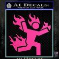 Man on Fire Stuntman Decal Sticker Hot Pink Vinyl 120x120