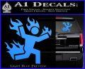 Man on Fire Stuntman Decal Sticker Light Blue Vinyl 120x97