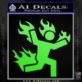 Man on Fire Stuntman Decal Sticker Lime Green Vinyl 120x120