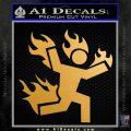 Man on Fire Stuntman Decal Sticker Metallic Gold Vinyl 120x120