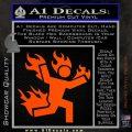 Man on Fire Stuntman Decal Sticker Orange Vinyl Emblem 120x120