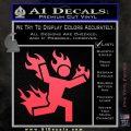 Man on Fire Stuntman Decal Sticker Pink Vinyl Emblem 120x120