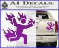 Man on Fire Stuntman Decal Sticker Purple Vinyl 120x97