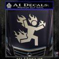 Man on Fire Stuntman Decal Sticker Silver Vinyl 120x120