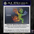 Man on Fire Stuntman Decal Sticker Sparkle Glitter Vinyl 120x120