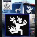 Man on Fire Stuntman Decal Sticker White Emblem 120x120