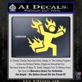 Man on Fire Stuntman Decal Sticker Yelllow Vinyl 120x120