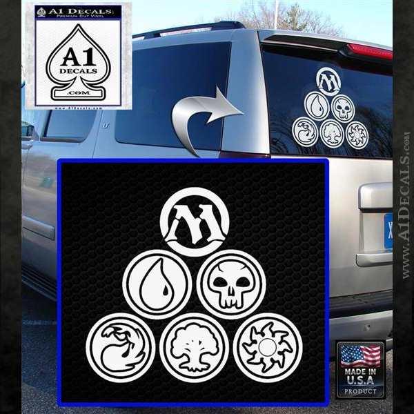 Mana Symbols Tri Decal Sticker Magic The Gathering Mtg A1 Decals