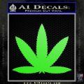 Marijuana Leaf DN Decal Sticker Lime Green Vinyl 120x120