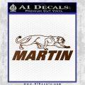 Martin Archery Logo Decal Sticker Brown Vinyl 120x120