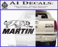 Martin Archery Logo Decal Sticker Carbon Fiber Black 120x97