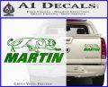 Martin Archery Logo Decal Sticker Green Vinyl 120x97