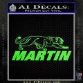 Martin Archery Logo Decal Sticker Lime Green Vinyl 120x120