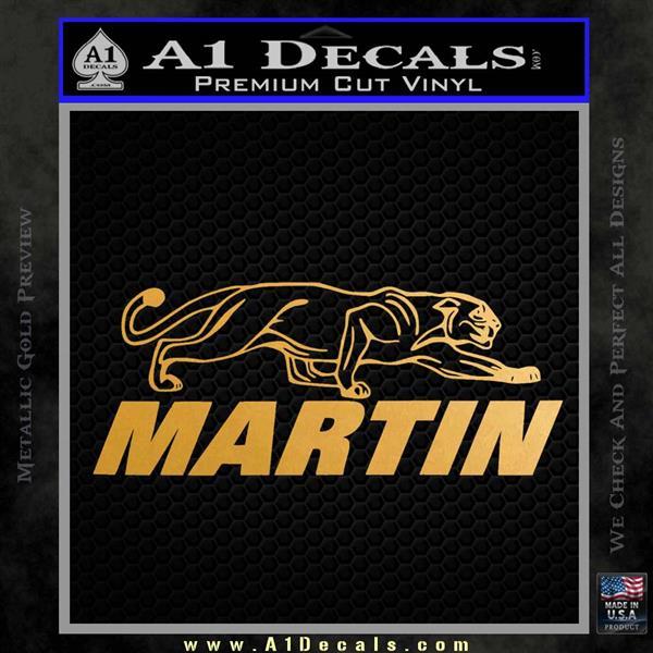 Martin Archery Logo Decal Sticker Metallic Gold Vinyl Vinyl