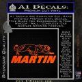 Martin Archery Logo Decal Sticker Orange Vinyl Emblem 120x120