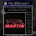 Martin Archery Logo Decal Sticker Pink Vinyl Emblem 120x120