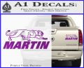 Martin Archery Logo Decal Sticker Purple Vinyl 120x97