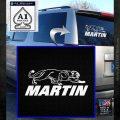 Martin Archery Logo Decal Sticker White Emblem 120x120