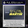 Martin Archery Logo Decal Sticker Yelllow Vinyl 120x120