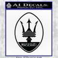 Maserati Full Logo Decal Sticker OV Black Logo Emblem 120x120