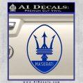 Maserati Full Logo Decal Sticker OV Blue Vinyl 120x120