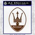 Maserati Full Logo Decal Sticker OV Brown Vinyl 120x120