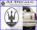 Maserati Full Logo Decal Sticker OV Carbon Fiber Black 120x97