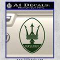 Maserati Full Logo Decal Sticker OV Dark Green Vinyl 120x120