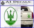 Maserati Full Logo Decal Sticker OV Green Vinyl 120x97
