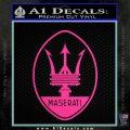 Maserati Full Logo Decal Sticker OV Hot Pink Vinyl 120x120
